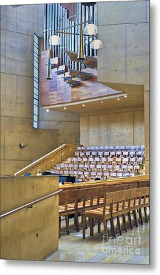 Cathedral Of Our Lady Of The Angels Church Los Angeles Ca Metal Print by David Zanzinger