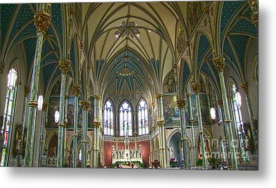Cathedral Of Saint John The Baptist Metal Print by D Wallace