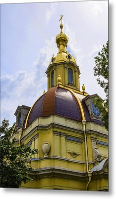Cathedral Of Saints Peter And Paul Metal Print by Jon Berghoff