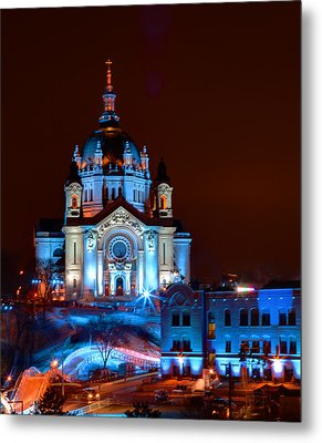 Cathedral Of St Paul All Dressed Up For Red Bull Crashed Ice Metal Print by Wayne Moran