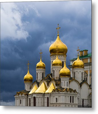 Cathedral Of The Annunciation Of Moscow Kremlin - Square Metal Print by Alexander Senin