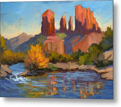 Cathedral Rock 2 Metal Print by Diane McClary