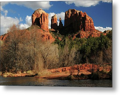 Cathedral Rock At Sunset, Red Rock Metal Print by Michel Hersen