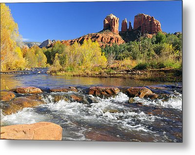 Metal Print featuring the photograph Cathedral Rock From Rock Crossing by Dan Myers