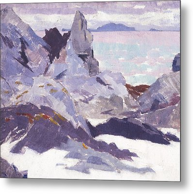 Cathedral Rock  Iona Metal Print by Francis Campbell Boileau Cadell