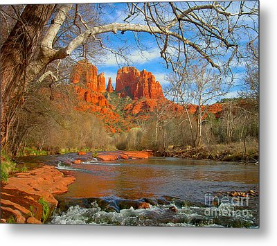 Cathedral Rock Metal Print by John Roberts