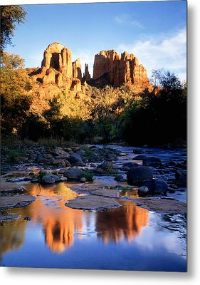 Cathedral Rock Sedona Az Usa Metal Print by Panoramic Images