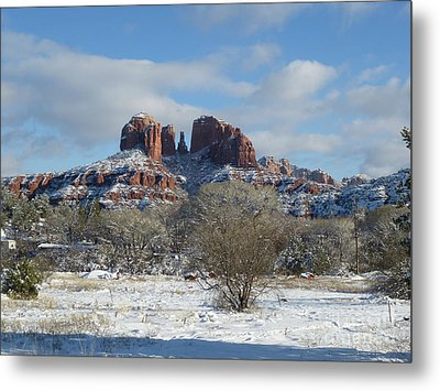 Cathedral Rock Sedona Metal Print by Marlene Rose Besso