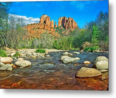 Cathedral Rock Sedona Metal Print by Steven Barrows