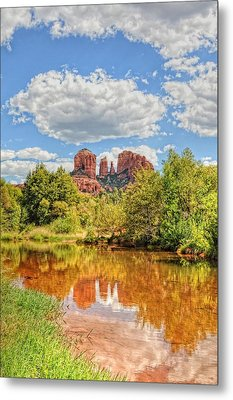 Cathedral Rock Tone Mapped Metal Print