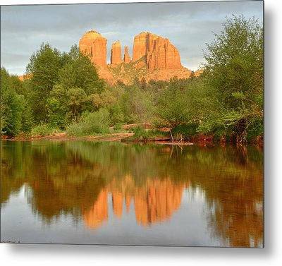 Metal Print featuring the photograph Cathedral Rocks Reflection by Alan Vance Ley