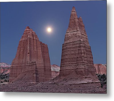 Cathedral Valley Moonrise Metal Print