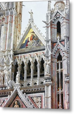 Cathedrals Of Tuscany Siena Italy Metal Print by Irina Sztukowski