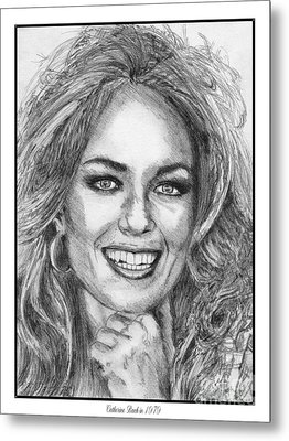 Catherine Bach In 1979 Metal Print by J McCombie