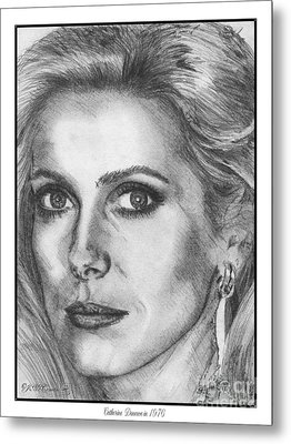 Catherine Deneuve In 1976 Metal Print by J McCombie