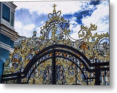 Catherine Palace Entry Gate - St Petersburg Russia Metal Print by Jon Berghoff
