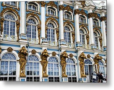 Catherine Palace Facade - St Petersburg  Russia Metal Print by Jon Berghoff