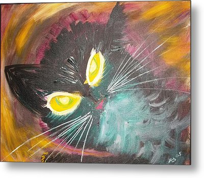 Metal Print featuring the painting Catrem by Leslie Byrne