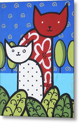 Cats 1 Metal Print by Trudie Canwood
