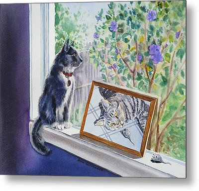 Cats And Mice Sweet Memories Metal Print by Irina Sztukowski