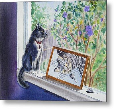 Cats And Mice Sweet Memories Metal Print by Irina Sztukowski