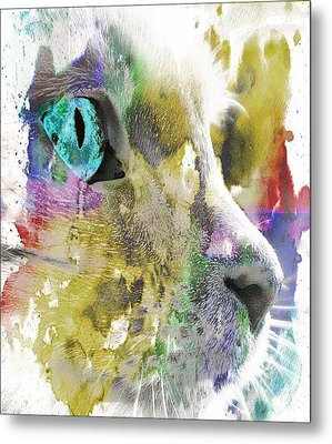 Cat's Eye Abstract Metal Print