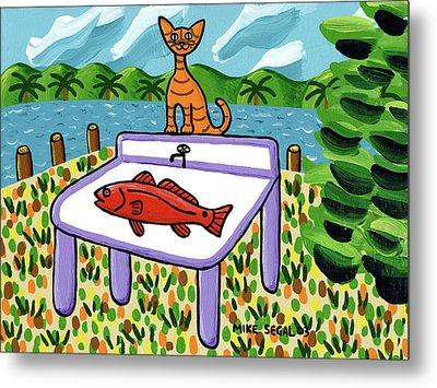 Cat's Fish - Cedar Key Metal Print