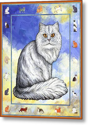 Cats Purrfection Three - Persian Metal Print