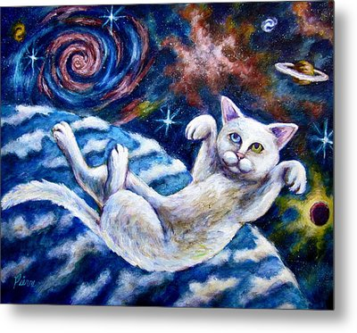 Catstronaught Metal Print