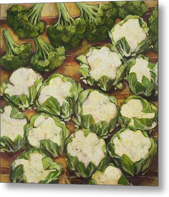 Cauliflower March Metal Print by Jen Norton