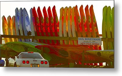 Metal Print featuring the photograph Causeway Kayaks by Alice Mainville