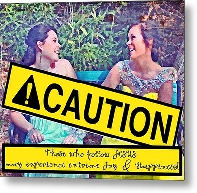 Caution Metal Print