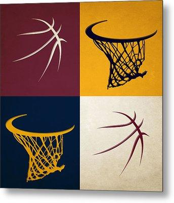Cavaliers Ball And Hoop Metal Print