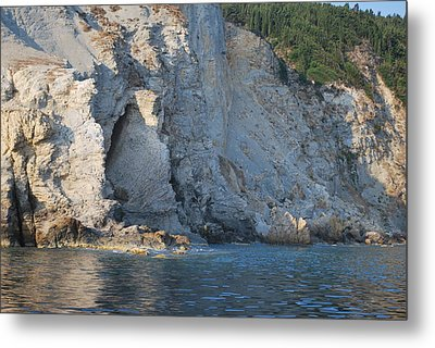 Metal Print featuring the photograph Cave By The Sea by George Katechis