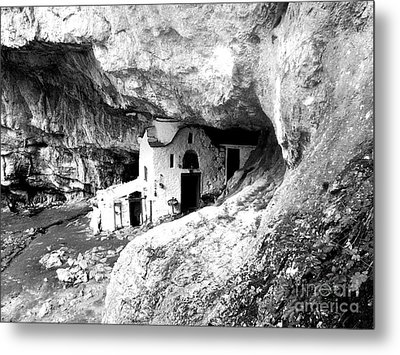 cave church on Mt Olympus Greece Metal Print by Nina Ficur Feenan