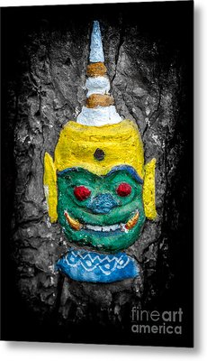 Cave Face 1 Metal Print by Adrian Evans