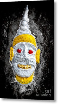 Cave Face 4 Metal Print by Adrian Evans