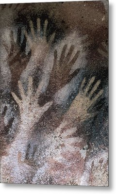 Cave Of The Hands. Argentina. Santa Metal Print by Everett