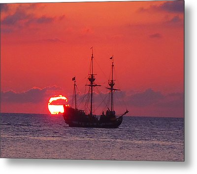 Cayman Sunset Metal Print