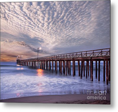 Cayucos Pier Metal Print by Alice Cahill