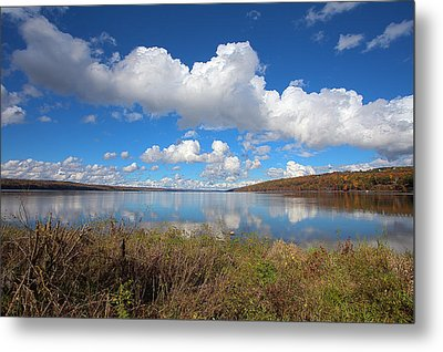 Metal Print featuring the photograph Cayuga Lake In Colorful Fall Ithaca New York II by Paul Ge