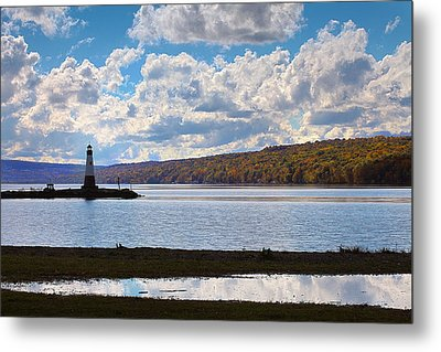 Metal Print featuring the photograph Cayuga Lake In Colorful Fall Ithaca New York IIi by Paul Ge