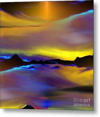 Metal Print featuring the painting Cebu Sunset by Yul Olaivar
