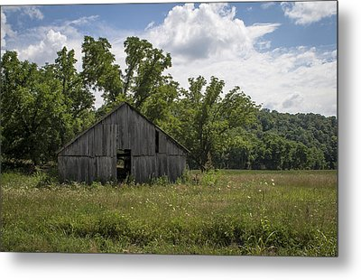 Cedar Creek Barn II Metal Print by Wayne Meyer