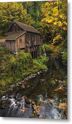 Cedar Creek Grist Mill 2 Metal Print by Mark Kiver