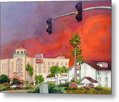 Cedar Fire San Diego 2003 Metal Print by Mary Helmreich