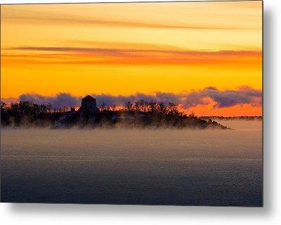 Cedar Island Morning Mist Metal Print by Paul Wash