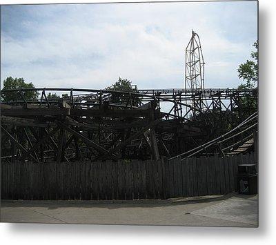 Cedar Point - Cedar Creek Mine Ride - 12121 Metal Print by DC Photographer