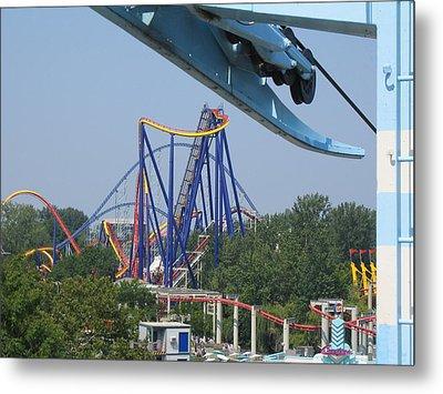 Cedar Point - Mantis - 121211 Metal Print by DC Photographer