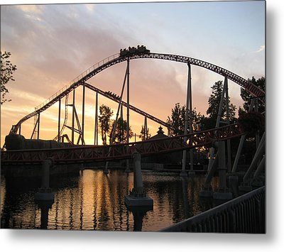 Cedar Point - Maverick - 12121 Metal Print by DC Photographer